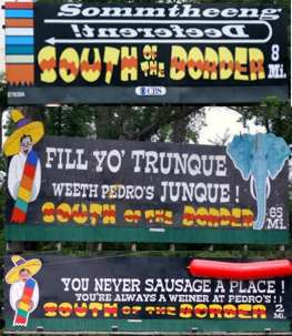 South of the Border Billboards